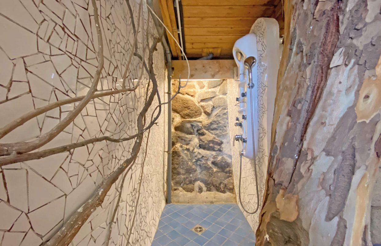 Baumhaus Dusche